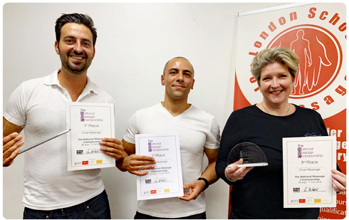 National Massage Championships London - London School of Massage Winners